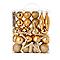Assortiment de décorations de Noël dorées, 50 pièces