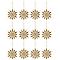 Décoration flocon doré (6 pièces)