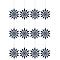 Décoration flocon bleu (6 pièces)