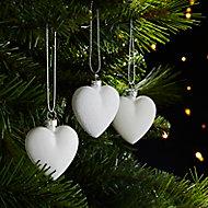 Décoration coeur blanc (6 pièces)