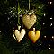 Décoration coeur doré (6 pièces)
