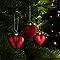 Décoration coeur rouge (6 pièces)