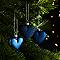 Décoration coeur bleu (6 pièces)