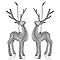 Décoration renne argenté (2 pièces)