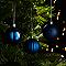 Décoration boule de noël ø60 mm bleue (18 pièces)