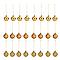 Décoration boule de noël ø40 mm dorée (24 pièces)