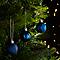 Décoration boule de noël ø40 mm bleue (24 pièces)