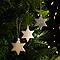 Décoration étoile champagne (10 pièces)