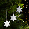 Décoration étoile argenté (10 pièces)