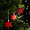 Décoration étoile rouge (10 pièces)