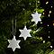 Décoration étoile blanc (10 pièces)