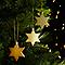 Décoration étoile doré (10 pièces)