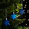 Décoration étoile bleu (10 pièces)