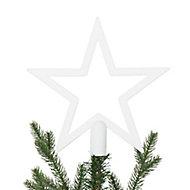 Décoration cimier étoile 20 cm blanc