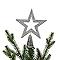 Décoration cimier étoile 15 cm argent