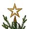 Décoration cimier étoile 15 cm doré