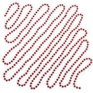 Guirlande de perles 5 m rouge