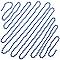 Guirlande de perles 5 m bleue