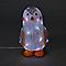 Pingouin de neige LED musical 40 cm