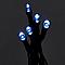 Guirlande lumineuse câble vert 50 LED blanc froid, piles
