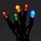 Guirlande lumineuse câble vert 50 LED multicolore