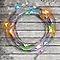 Guirlande lumineuse fil cuivre 20 LED multicolore, piles