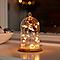 Guirlande lumineuse Etoile fil cuivre 20 LED, piles