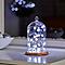 Guirlande lumineuse Flocon fil cuivre 20 LED, piles
