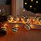 Guirlande lumineuse boule métal 16 LED, piles