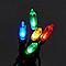 Guirlande lumineuse Fairy câble vert 50 LED multicolore, électrique