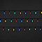 Guirlande lumineuse Fairy 120 LED multicolore, électrique