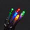 Guirlande lumineuse câble transparent 120 LED multicolore, électrique