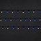 Guirlande lumineuse câble vert 120 LED blanc bleu, électrique