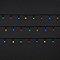 Guirlande lumineuse câble vert 240 LED multicolore, électrique