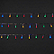 Guirlande lumineuse câble transparent 240 LED multicolore, électrique