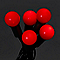 Guirlande lumineuse Boule câble vert 240 LED rouge, électrique