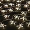 Guirlande lumineuse Etoile câble transparent 80 LED blanc froid, électrique