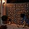 Guirlande lumineuse Rideaux 240 LED blanc chaud, électrique