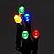 Guirlande lumineuse câble vert 720 LED multicolore, électrique