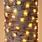 Guirlande lumineuse fil cuivre 300 LED blanc chaud, électrique