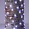 Guirlande lumineuse fil cuivre 300 LED blanc froid, électrique