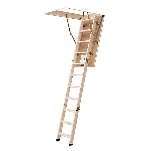 Escalier Escamotable Echelle 3 Plans 12 Marches 120x60 Castorama