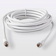 Câble type F 3C2V Mâle / Mâle blanc Blyss, 5 m