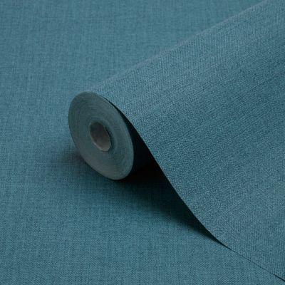Papier peint vinyle sur intissé GoodHome Tille bleu
