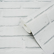 Papier peint vinyle sur intissé Luynes GoodHome blanc