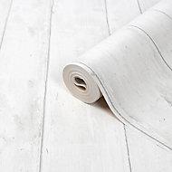 Papier peint vinyle sur intissé Mayet GoodHome blanc