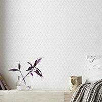 Papier peint vinyle sur intissé GoodHome Lanaria blanc 53cm