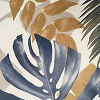 Papier peint vinyle sur intissé GoodHome Ferula bleu 53cm