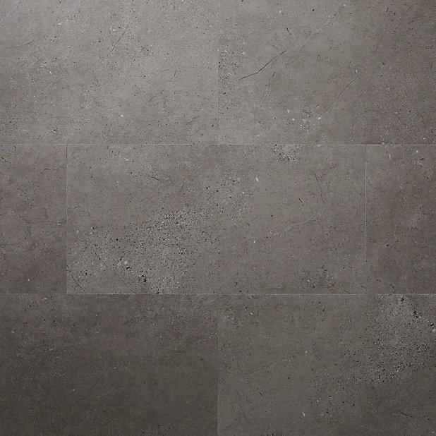 Dalle Pvc Adhesive Gris Moyen Poprock 30 X 60 Cm Vendue Au Carton Castorama