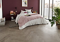 Lame PVC adhésive gris clair Poprock 10 x 60cm (vendue au carton)